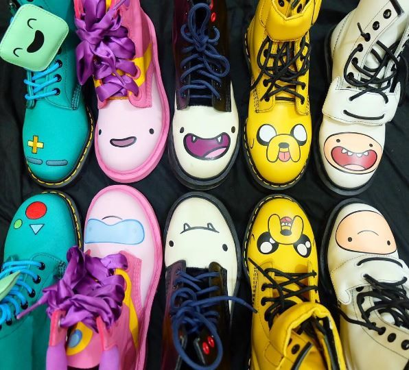 Dr. Martens x Adventure Time collection, shared by pajammy.