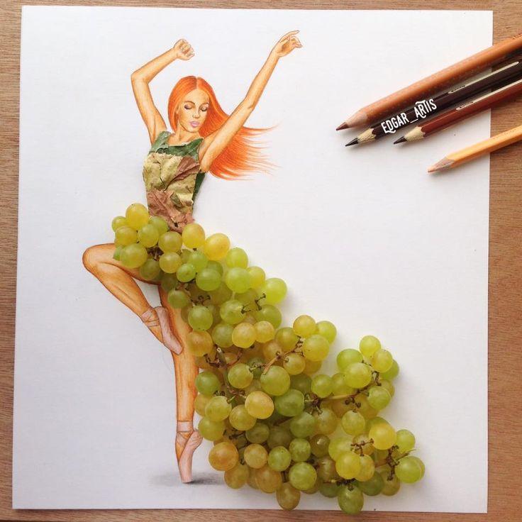 Grape dress by Edgar Artis