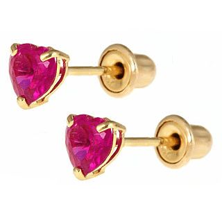 ruby earrings for babies 17 best images about baby earrings with safety backs on 6056