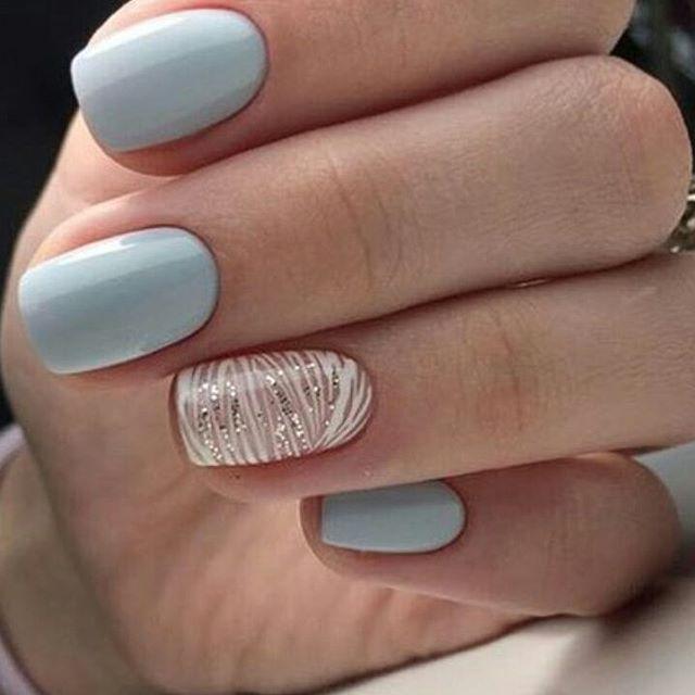 Cute Nails Art Trend. Beautiful, Simple, Elegant Nail Art
