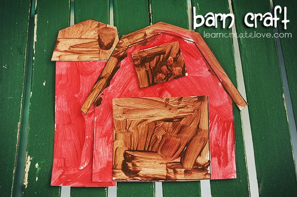 Printable Barn Craft from LearnCreateLove.com