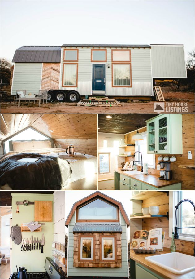 Minty Tiny Home Tiny House For Sale In Oklahoma City Oklahoma Tiny House Listings Tiny House Exterior Small Tiny House Tiny House For Big Family