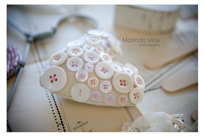 Fabric heart with buttons by Lovilee on hellopretty.co.za