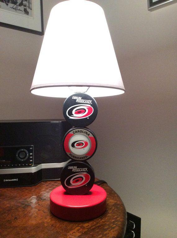 Carolina Hurricanes Hockey Puck Lamp on Etsy, $65.00