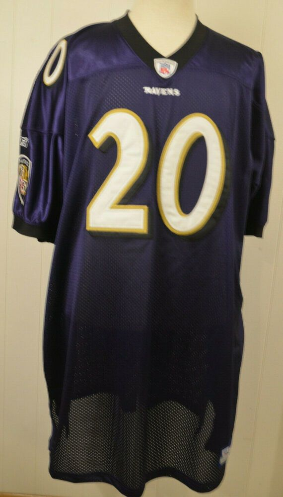 e52434f8e New Old Stock Reebok Baltimore Ravens Jersey 20 Ed Reed Authentic NFL  Onfield Size 58 Purple  Reebok  BaltimoreRavens