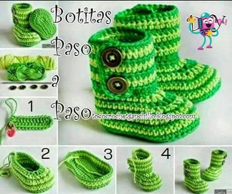 Botitas a crochet paso a paso