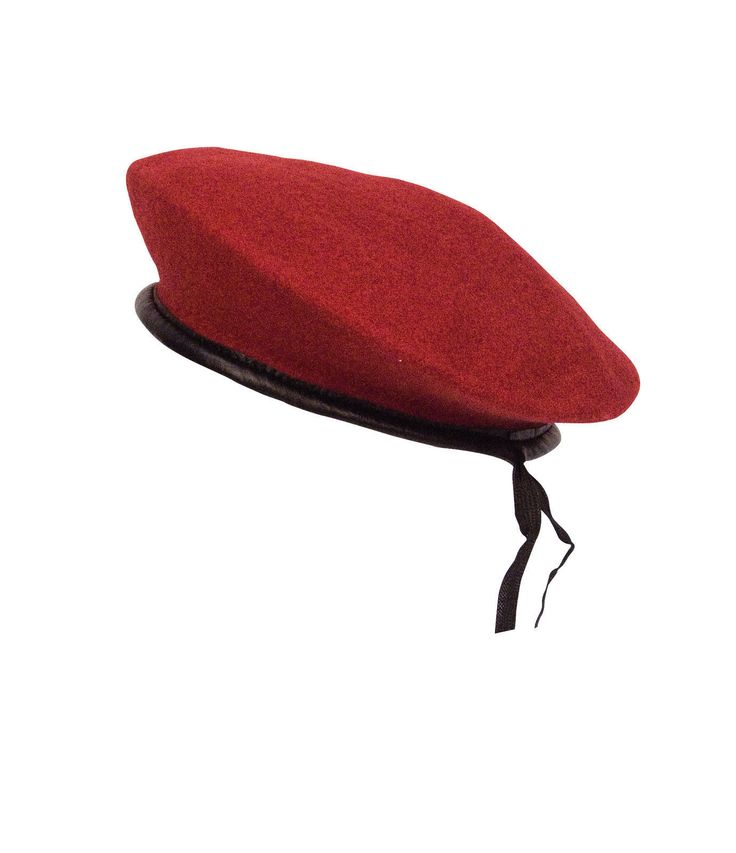 GI STYLE BERETS - Black, Red, OD or Woodland Camo Camo Beret Made of 100% Cotton Black, Red, OD w/ Drawstring Berets Made of Wool All w/ Vinyl Trim Black only Color Available in XS - All Colors availa