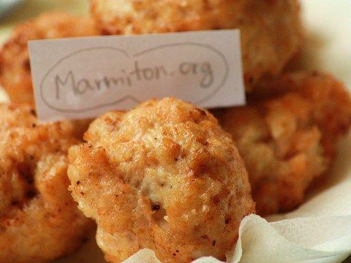 Nuggets de poulet au fromage - Recette de cuisine Marmiton : une recette