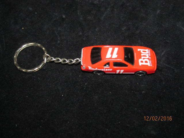 Vintage Kerico 1993 Metal Budweiser Bud Stock Car Racing Keychain Key Chain #11 Bud King of Beers by EvenTheKitchenSinkOH on Etsy