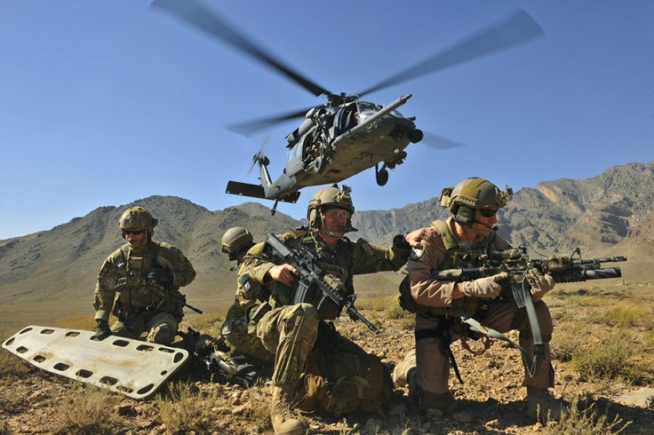 U.S.A.F. Pararescue. Because the SEALS, Delta Force, Green Berets, and Marine Recon have to call 9-1-1 once and a while, too --