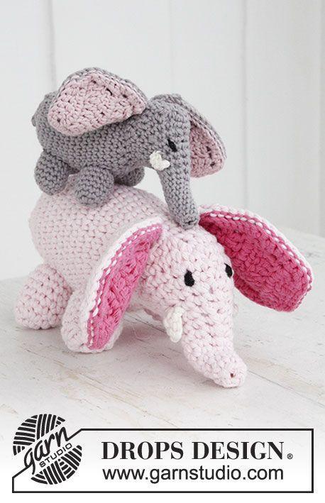 Kleiner Gehäkelter Drops Elefant Aus Safran Oder Grosser Elefant