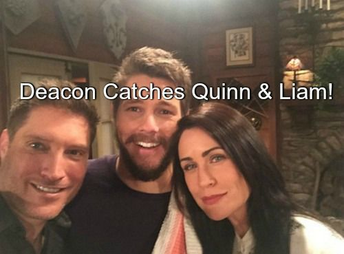 """The Bold and The Beautiful"" (B&B) spoilers indicate that Deacon Sharpe (Sean Kanan) is back in LA and looking for his soon-to-be-ex Quinn Fuller (Rena Sofer)"