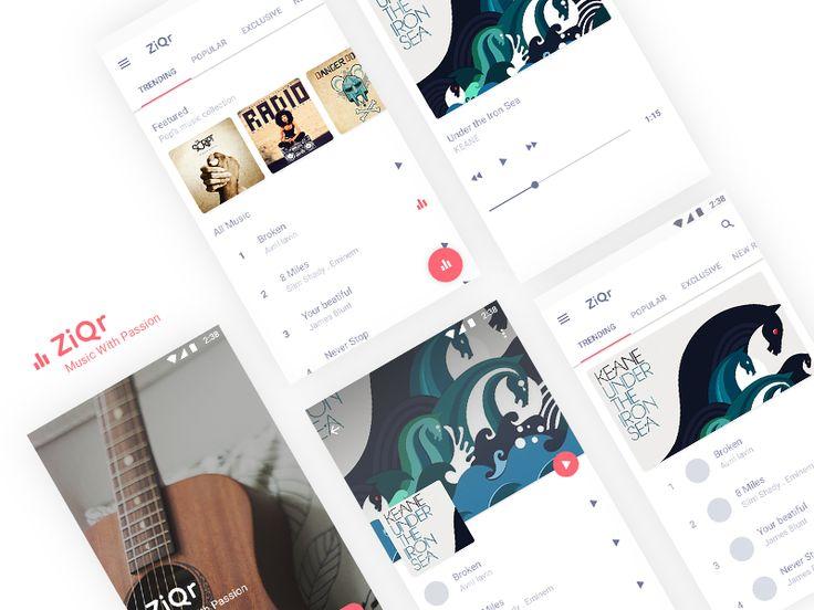 Music Ui  by Hicham A. #Design Popular #Dribbble #shots
