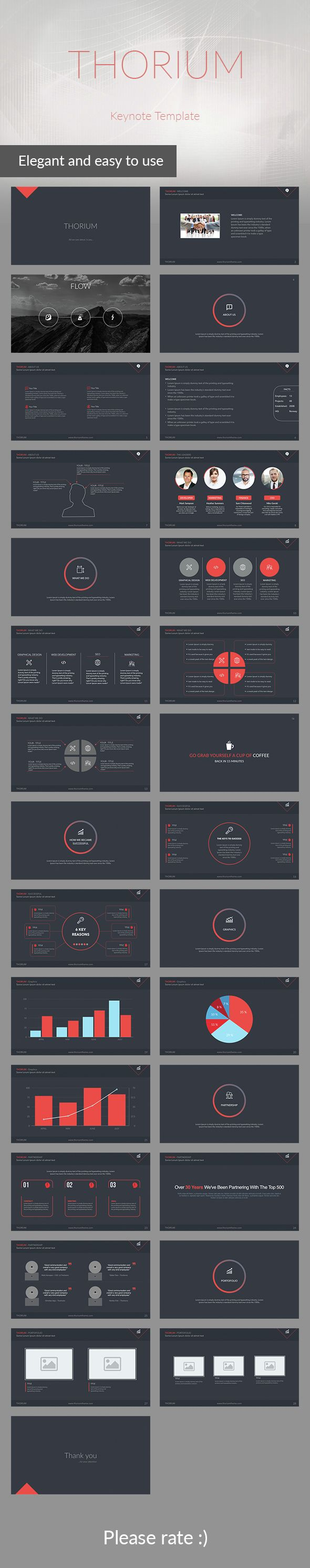 Thorium - Keynote Presentation Template - Business Keynote Templates