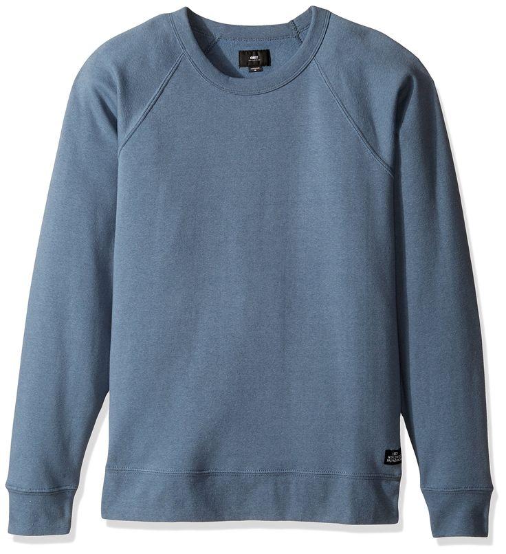 OBEY Men's Lofty Creature Comfort Crew Ii Crew Neck Fleece Sweatshirt, Vintage Blue, Large