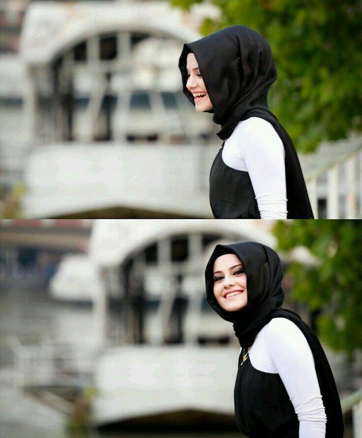 Hijab fashion - tesettür - *siyah eşarp bağlanış şekli*