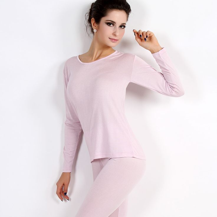 Autumn Silk Silk Female Thermal Underwear Sets - Thin Clothes Kuanqiu Long Johns Warm Suit
