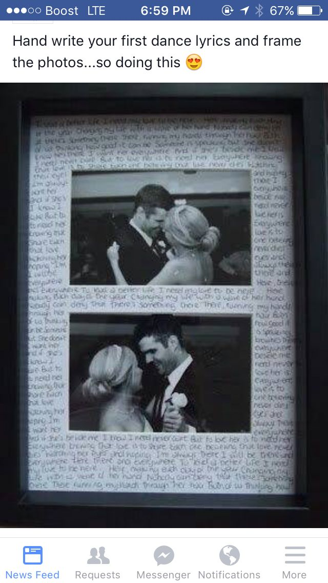 Craft- we Could write first dance or rewrite the love letter from wedding day on edges. Or frame the letter from wedding day Itself