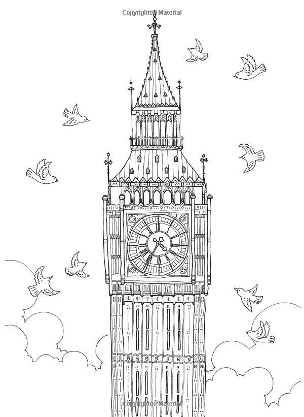 europe landmarks coloring pages | 741 best images about Adult Colouring~Buildings~Houses ...