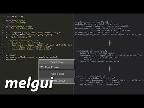 melgui: A library for creating GUI tools in Maya - YouTube
