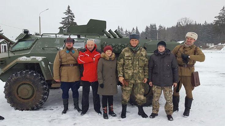 Дольф Лундгрен проехался на белорусском БРДМ «Кайман»