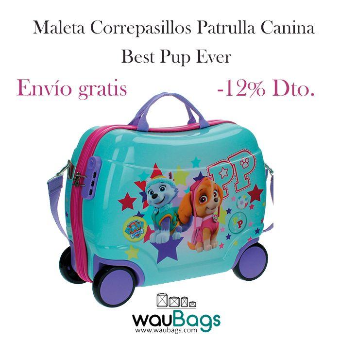 """Consigue la Maleta Correpasillos Patrulla Canina """"Best Pup Ever"""" y convierte sus viajes en una auténtica aventura, por tan solo 53€!!Ideal para las más peques de la casa, ya que se puede ir tirando de ella con la niña subida en la maleta. Además, con ella no tendréis que facturar, ya que sus medidas son las homologadas para poderla llevar en la cabina del avión!! @waubags #patrullacanina #pawpatrol #maleta #correpasillos #infantil #niña #pequesdelacasa #descuento oferta"""