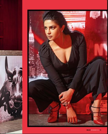 Wow !! Here's a sexy stunning look of #PriyankaChopra in #GlobalIndian Cover story. Take a look!!  #PriyankaChopra #Stunning #Bold #Globalindian #Style #beauty #PC #Coverstory #Black #Outfit #amazing #Eyes #Sharp #Look #