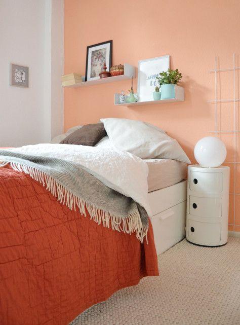 70 besten farbige Wände Bilder auf Pinterest Farbige wände - wandfarbe im schlafzimmer erholsam schlafen
