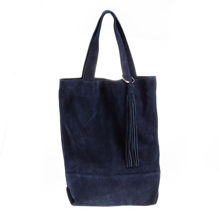 Saidy suede blue long tote