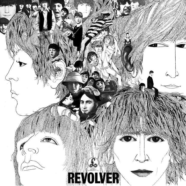 The Beatles' Revolver cover, designed by Klaus Voormann.