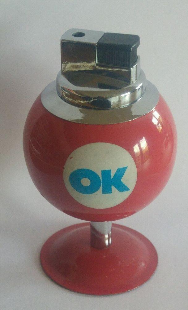 Vintage pool ball snooker ball table lighter