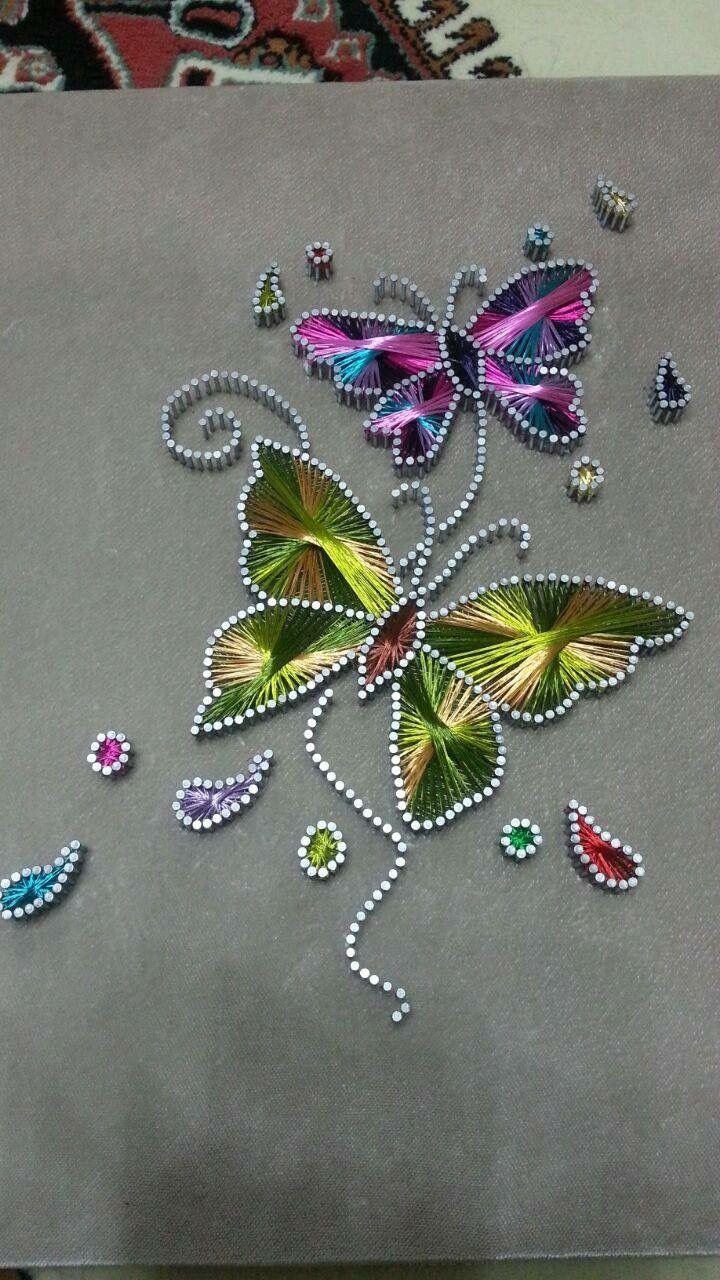 butterfly string art                                                                                                                                                                                 Más