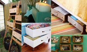 Ζωή Χωρίς Χρήματα: Diy Κατασκευές και ιδέες διακόσμησης με παλία συρτ...