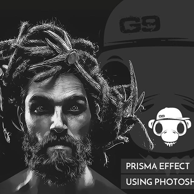 Prisma effect using photoshop part #3   #photoshop #topazlabs #prisma #vector #vectorart #vexel #vexelart #beards #beardsman #beardsofinstagram #gendatgraphic #random