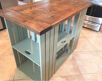 Kitchen Island Reclaimed Wood Farmhouse Rustic Country
