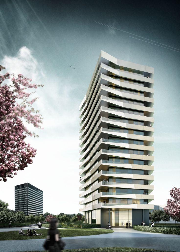 Residential tower Pandion Munich BRT Architekten 2009 #highrise #living http://rdt.ac/e375