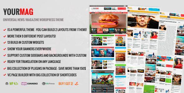 YourMag v1.6.1 Universal WordPress News/Magazine Theme