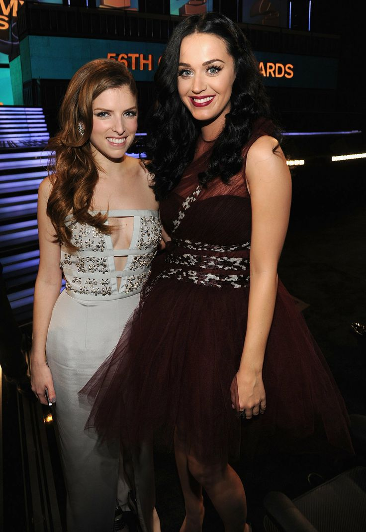 Anna Kendrick met up with Katy Perry at the Grammys