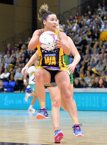 Kelsey Browne of the Lightning in action during the round 12 Super Netball match between the Lightning and the Fever at University of the Sunshine Coast on May 12, 2017 in Sunshine Coast, Australia.