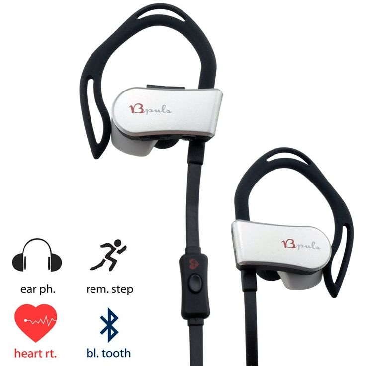 BPULS Bluetooth Heart Rate Hearphone Wireless Sweatproof Hifi Sport Headset with Built-In APP Monitor Running Exercise (Black) *** Read more at the image link.