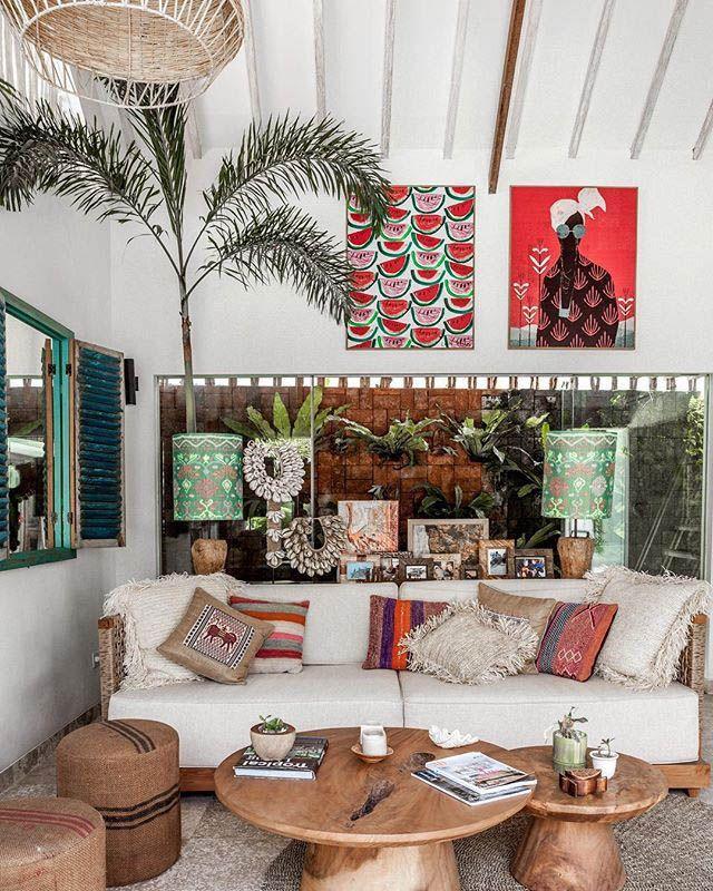 Motivating Bohemian Decorating Ideas For Living Room Tropical Interior Design Tropical Interior Balinese Decor