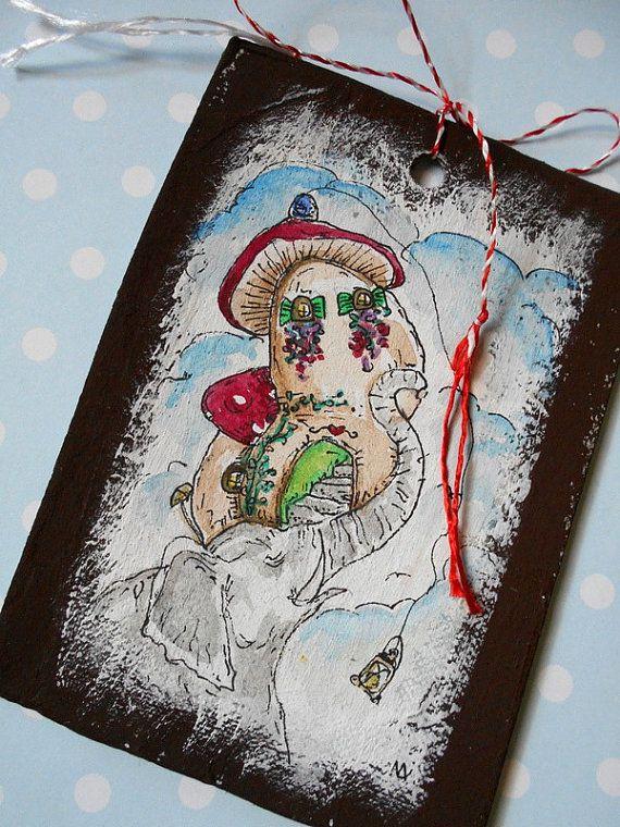 Original illustration on recycled cardboard-gift by cukipokshop