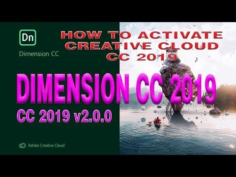 How to activate all adobe creative cloud cc 2019 #Adobe Dimension CC