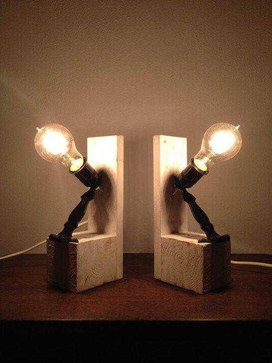 L mparas de noche de palet creatieve ideeen binnen - Lampara de noche ...