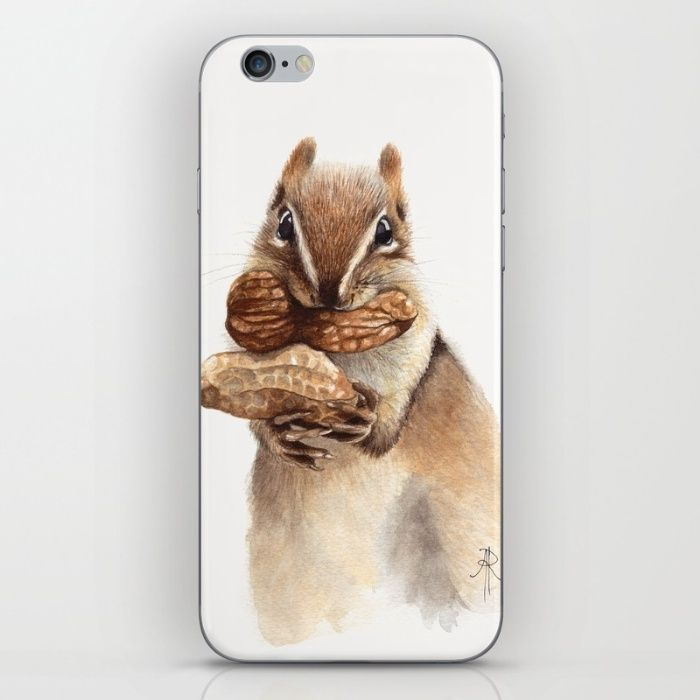 Watercolor squirrel! Available now... https://society6.com/allisonrattray/cases