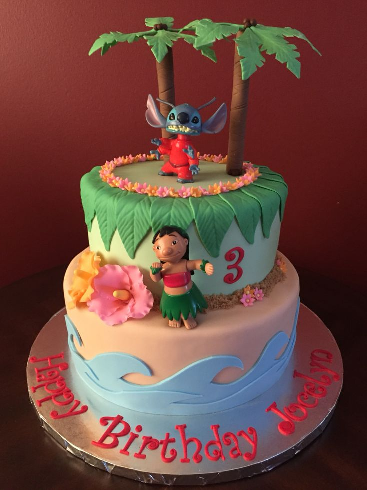 Lilo and Stitch Luau Birthday Cake