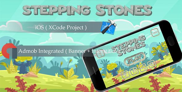 Stepping Stones Ios Game Template With Admob Iap Remove Ads