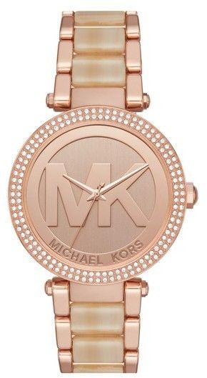 Michael Kors Women's Parker Logo Acetate Bracelet Watch, 39Mm