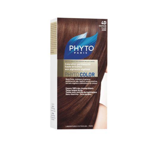 Phyto Phyto Color Tinte Castaño Claro Dorado - 4D Con extractos de plantas tintóreas (de 57 a 61% según el tono)