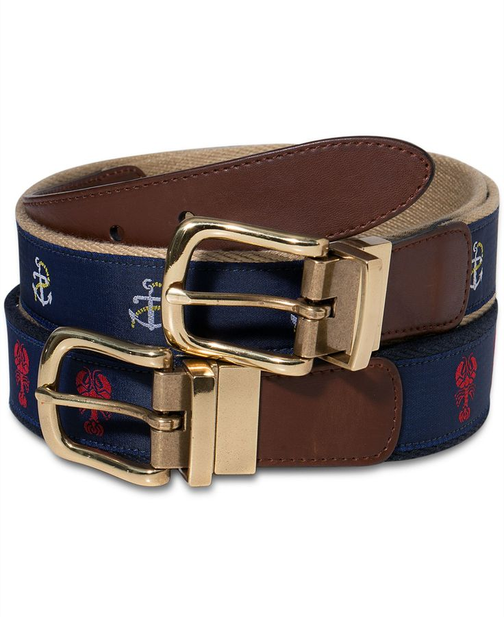 Club Room Belts, Maritime Reversible Belt - Men's Belts & Suspenders - Men - Macy's